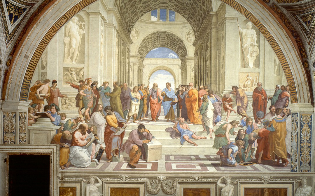 The School of Athens: Averroes and Pythagoras on the Pope's wall.