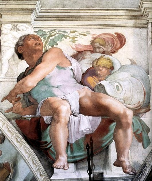 Jonah, the lynchpin of the Sistine Chapel ceiling.