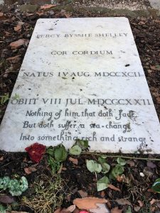 The grave of Percy Shelley